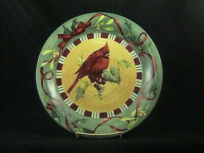 LENOX WINTER GREETINGS CARDINAL DINNER PLATE by CATHERINE McCLUNG