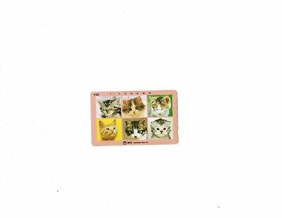 Japan used telephone card 105 kittens 105 units