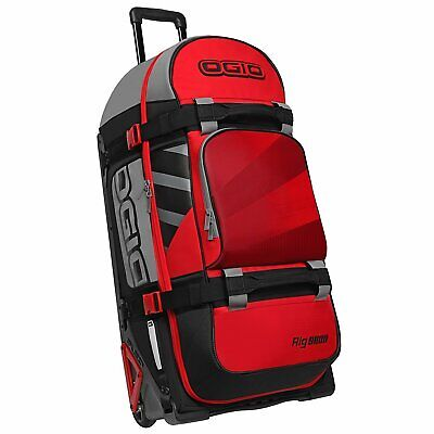 Ogio Rig 9800 Wheeled Motocross Le Mens Luggage Gear Bag - Red Hub One Size