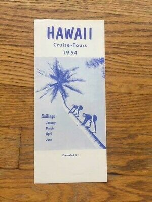 Vintage 1954 Hawaii Cruise Tour Brochure SS Lurline Matson Lines Advertising
