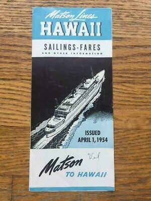 Vintage Cruise Tours Hawaii Brochure 1950s Advertising SS Lurline Matson Lines