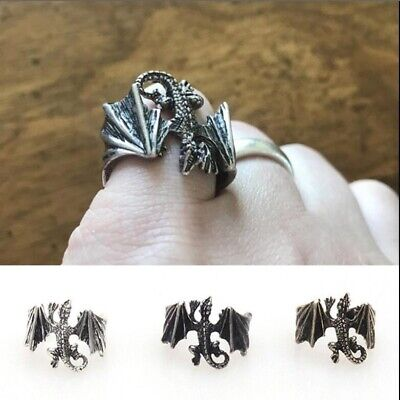 Handmade Dragon Jewelry Gift Flying Dragon Ring Game of Thrones Adjustable