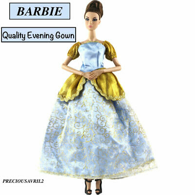 New barbie doll princess clothes dress outfit wedding evening