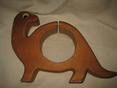 Timber Toys Wooden Dinosaur Piggy Bank w/ Clear Sides Vintage