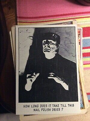 B6c Trade Card Topps USA You'll Die Laughing Creature Feature No 32