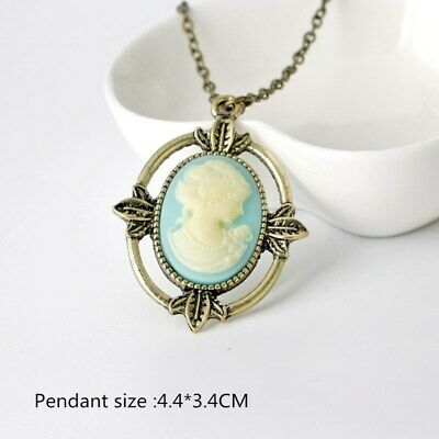 Movie style Bronze Cameo The Vampire Diaries Katherine Beauty Pendant Necklace
