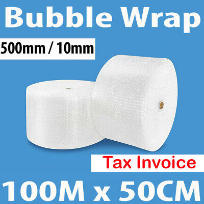 Bubble Cushion Wrap 500mm x 100M Roll Polycell P10 10mm Clear Bubble Tax Invocie