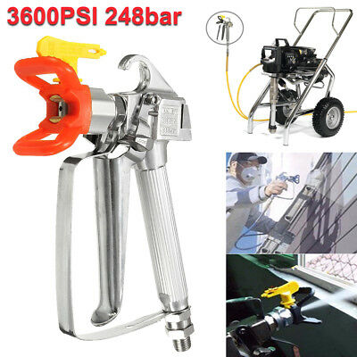 AU 5 HP 5000 PSI Commercial Airless Paint Sprayer 2 Spray