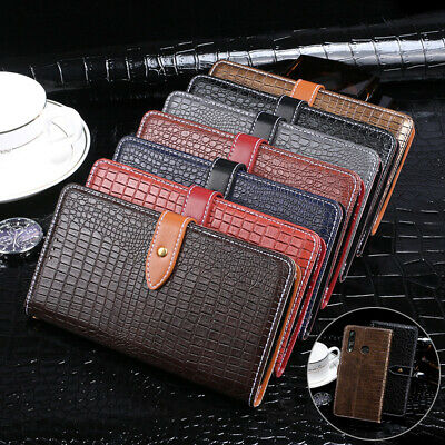 Luxury Book Flip Phone Case Leather Stand Silicone Cover Wallet For Oppo/Alcatel
