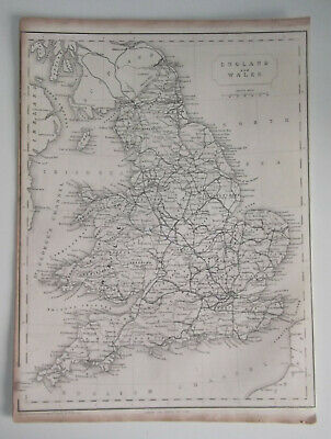 ENGLAND AND WALES A Vintage Antique Map From 1848