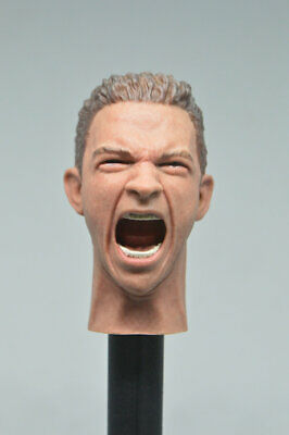 1/6  Male Head Sculpt with  Expression for 12'' Figure HOT TOYS FP-A-005