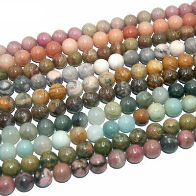 Assorted Loose Natural Round Stone Bead For Jewelry Making 4/6/8/10/12 MM