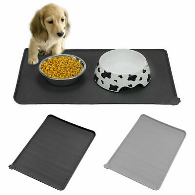 S/L Pet Puppy Silicone Waterproof Feeding Food Mat Dog Cat Nonslip Bowl Placemat
