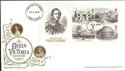 GB 2019 Royal Mail Queen Victoria M/S East Cowes Postmark F.D.C Unaddressed