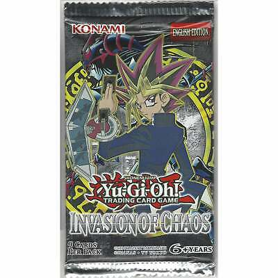 Yu-Gi-Oh Invasion of Chaos - 1 Sealed Booster Pack - Unlimited Edition TCG Cards