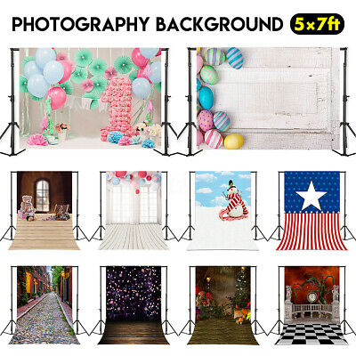 5x7FT Retro Wood Plank Wall Floor Photography Backdrop Studio Photo Background