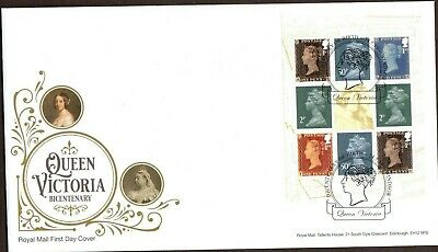 GB 2019 Royal Mail Queen Victoria PSB Main Sheet Windsor P/M F.D.C Unaddressed