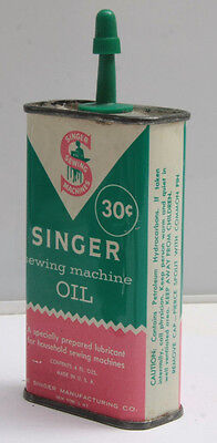 Singer Sewing machine Oil - About 1/2 Full - VINTAGE - USED B191