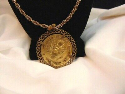 Vintage Great Seal of the United States Bicentennial Spirit Of 76 Medal Necklace