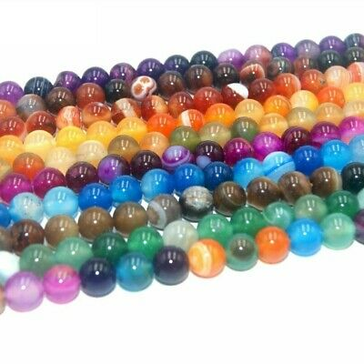 Assorted Natural Stone Round Beads For Jewelry Making Necklace 4/6/8/10/12