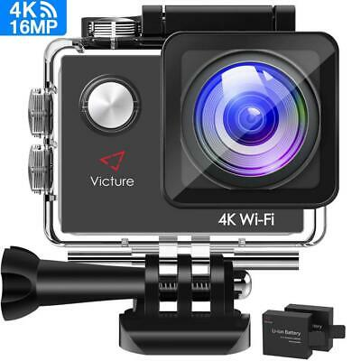 Victure Action Cam 4K Wifi fotocamera subacquea 16 MP Ultra HD Sport Camera...