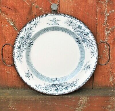Antique Blue and White Hot Water Plate Warmer H J Hookham & Sons Birmingham