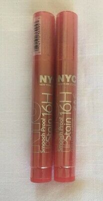 2 Pack-NYC SMOOCH PROOF LIP STAIN 16 HOUR #495 ENDLESS SPICE. NEW SEALED!!!