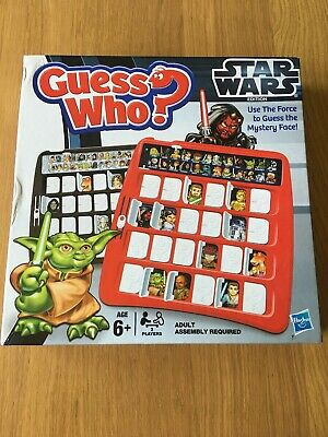 Guess Who? Star Wars Edition Game by Hasbro 2012 Good Condition Complete Family