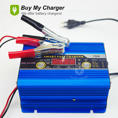 12V 2A~10A Battery Charger 120ah Three-phase Smart Fast LED Display Intelligent