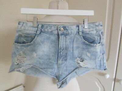 8fc50b19eaf03 TRAFALUC ZARA – Jeans Shorts Hotpants im Used Look, destroyed, Gr ...
