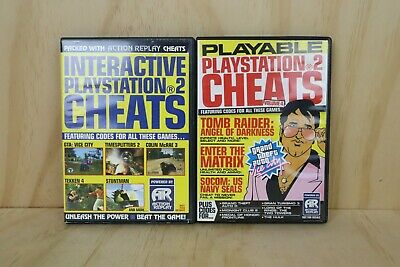 2 x Action Replay Lite Version Playstation 2 PS2 Discs Cheats