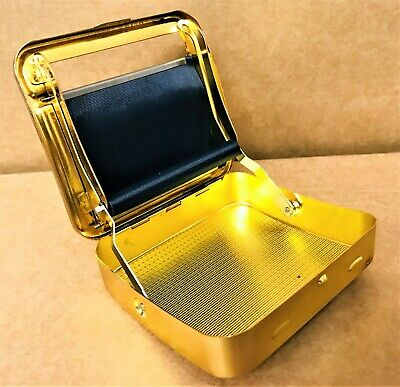 GOLD AUTOMATIC ROLLING Machine Tin Box Metal Roller Cigarette Tobacco Roll Up