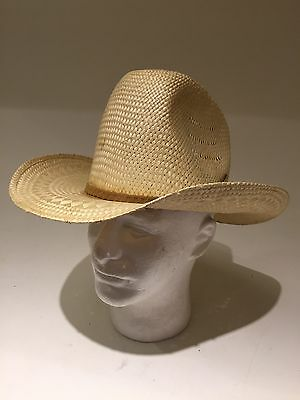 16b99651 New West Bailey U-Rollit Western Style Straw Hat Size 7 Perfect Condition