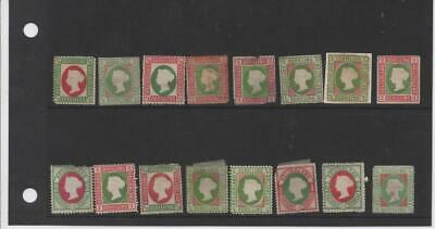 mj6 Heligoland 16 stamps mixed condition