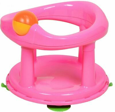 Safety 1St Swivel Bath Seat Pink Baby Tub/Bathing/Cleaning New Design New