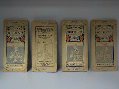 Michelin Map Of The British Isles 10, 11, 13, 18 - 4 Vintage Maps! (ID:770)