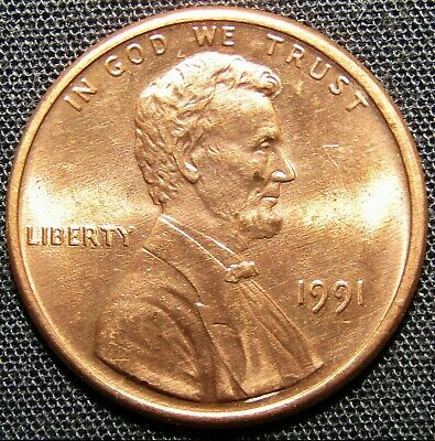 1991 US Lincoln Memorial Cent Coin