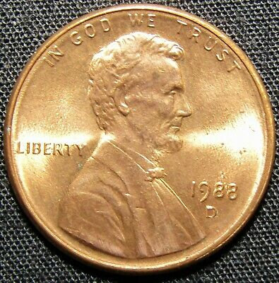 1988 D Lincoln Memorial Cent Coin