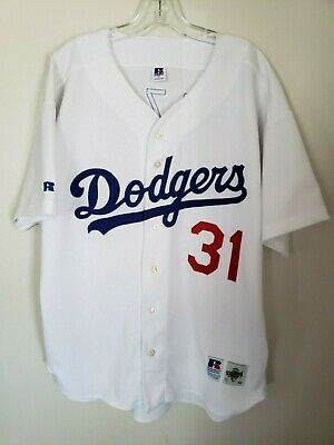 9df692fc3 Rare Vintage 90s Russell LA Los Angeles Dodgers Mike Piazza 31 Jersey Men  52 2XL