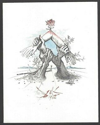 Salvador Dali Limited edition plate signed lithograph UN WFUNA New York