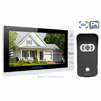 9'' HOMSECUR Colour LCD Video Home Doorbell Intercom with Snapshotting Recording