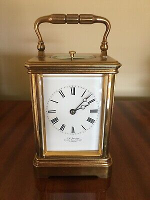 A Fine Rare Striking & Repeating Carriage Clock Drocourt Paris c1880