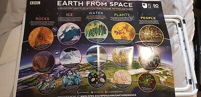 Bbc & Open University Earth From Space Double Sided Poster 2019 Brand New