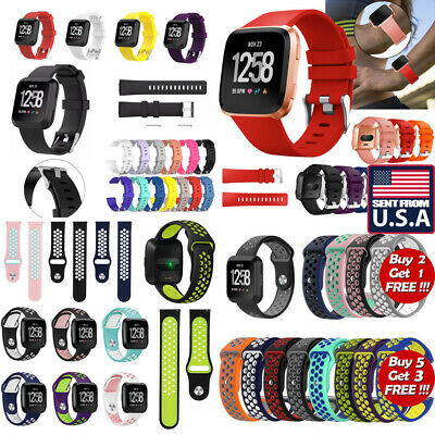 US Sports Silicone Watch Band Wrist Strap Bracelet For Fitbit Versa Versa Lite o