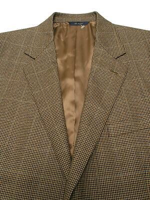 BROOKS BROTHERS Italy Brown Plaid Jacket Blazer Sportcoat 43R