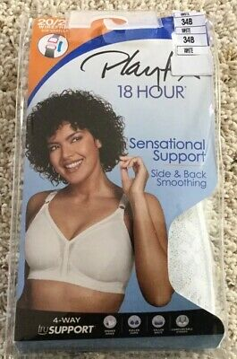 818cff37a NWT Bra Playtex 18 Hour 20 27 Sensational Support Smoothing Wirefree white  34B