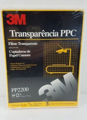 """3M Transparency Film For Copiers 100 Sheets 8.5"""" x 11"""" PP2200 Sealed Package New"""
