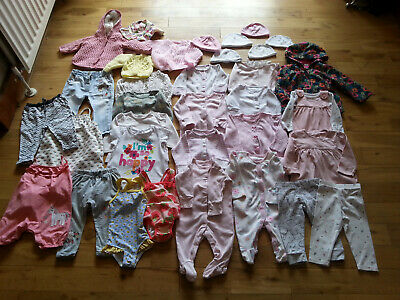 BABY GIRLS CLOTHES BUNDLE JEANS / LEGGINGS / TOPS / JUMPERS 0-3, 3-6, 6-9 months