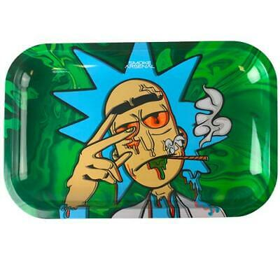 Smokers Metal Rolling Tray RICK AND MORTY LARGE