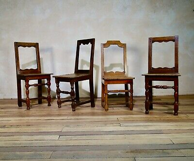 A Set Of Four Antique 18th Century Backstools - Lorraine Chairs Small Hall Chair